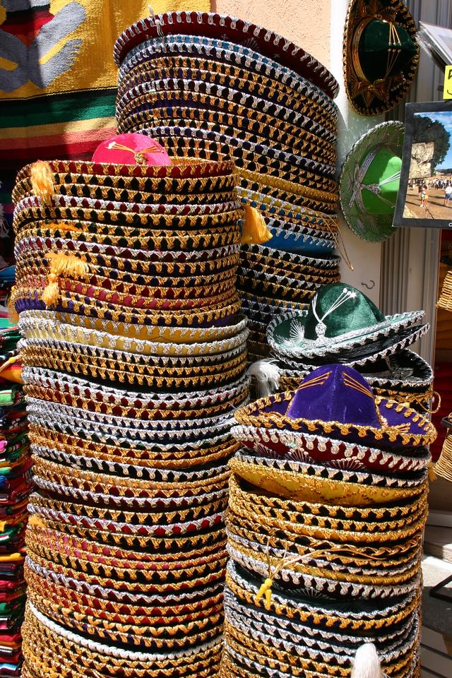 Sombreros Tacky hatwear for sale in Progreso.