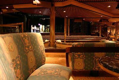 Carnival Elation - The Mikado Lounge Captured during a rehearsal, this is the lower level of the Mikado, on deck 8. There is also a balcony on deck 9.