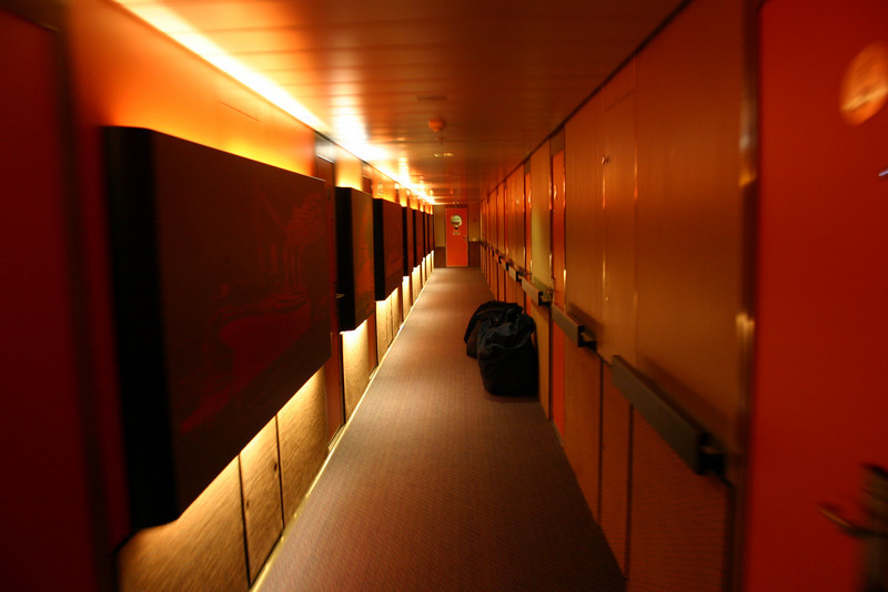 Carnival Elation - Riviera Deck The hallway leading to our cabin on Riviera Deck, aka deck 4.