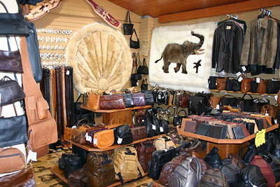 "Leather Shop Not just cow-leather here, they had a variety of ""exotics\"" as well."