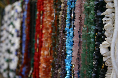 Necklaces A variety of necklaces for sale in Progreso.