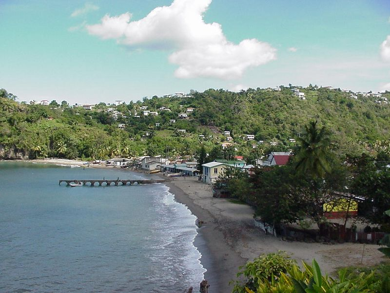 Fishing village on the road to Soufriere