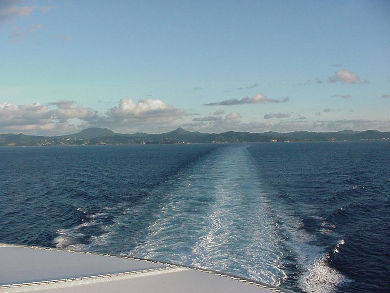 Leaving St. Lucia.