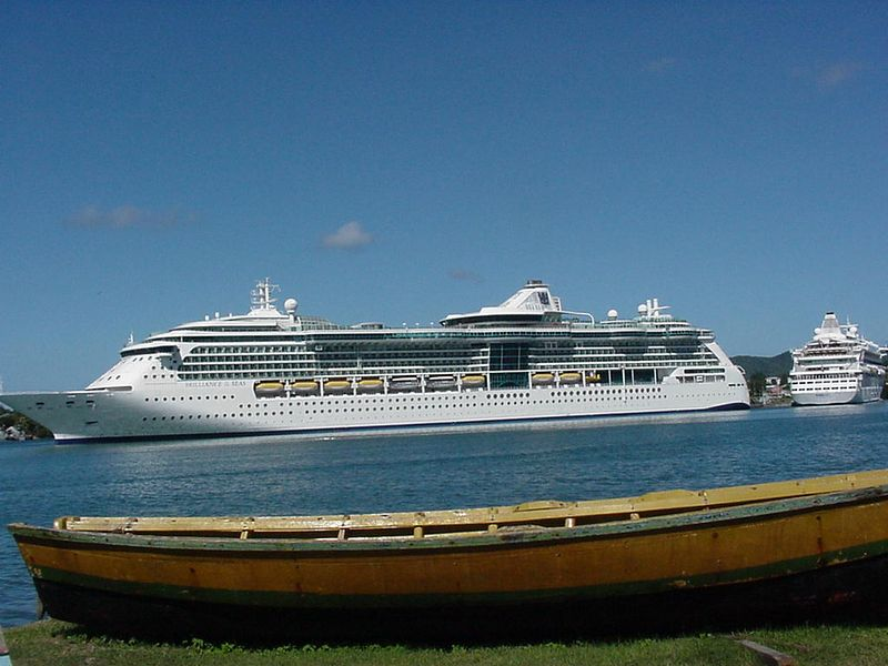"Royal Caribbean's ""Brilliance of the Seas"" in St. Lucia."