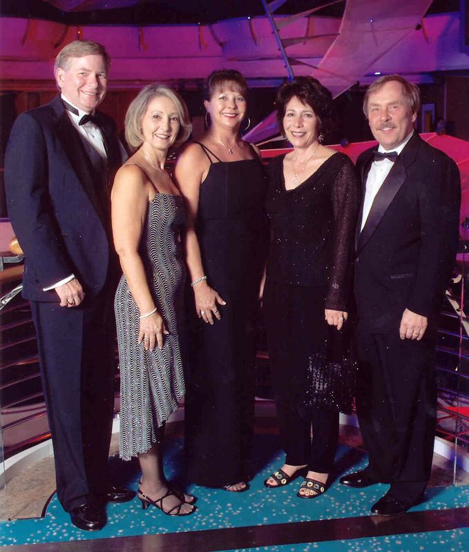 First formal night ... Joe & Raye, Nanci Conway, Barbara & Gordon Leden