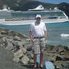 Joe Cruize with his newest favorite cruise ship the Jewel of the Seas