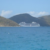 Cruise ship passes between Tortola and St. John.