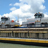 Famous Panama Canal mules, used to maintain position of large ships in the lock chambers.