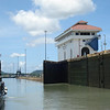 Ready to move to next lock chamber. The Miraflores is a double lock with two step downs to sea level.