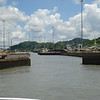Gates close behind our vessel at the Pedro Miguel Locks.
