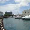 Waterfront scene in Bridgetown.