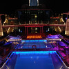 Celebrity Equinox pool at night.