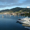 View from our balcony of Charlotte Amalie Harbor.