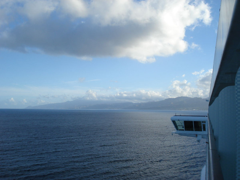 Approaching Dominica.