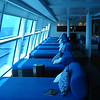 Relaxation lounge for Aqua Class passengers.