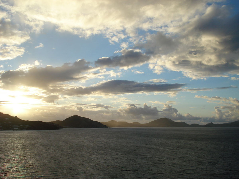 Sunrise over St. Kitts.