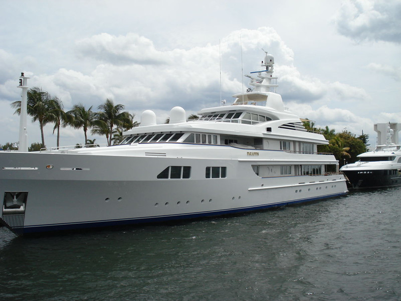 """Motor Yacht """"Paraffin"""" owned by The Yankee Candle creator. It all started when he melted down some of his crayons to make his mother a candle as a present."""