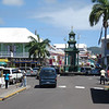 Traffic circle in Basseterre.