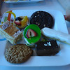 Light lunch dessert plate.