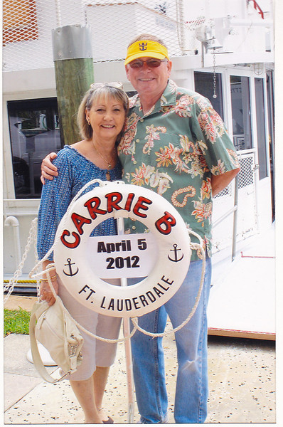 "Our pre-cruise cruise on-board the ""Carrie B"" in Ft. Lauderdale. Toured the inland waterways and Port Everglades harbor."