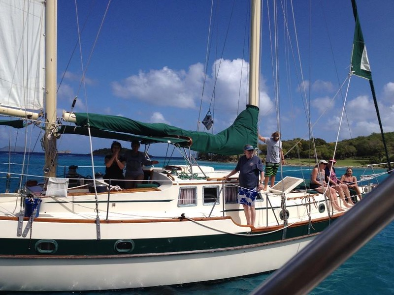Sail boat Independence. Happy to share the great experience of a day sail with so many food friends.