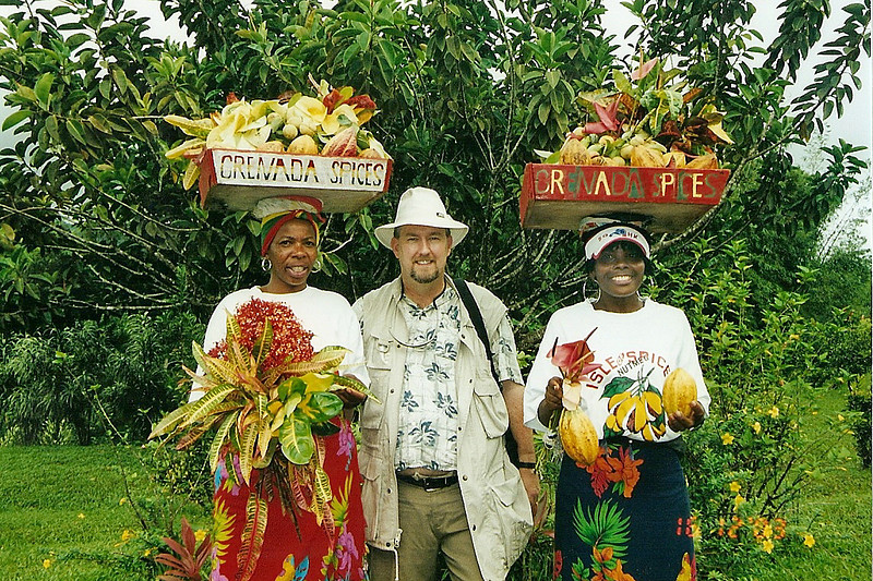 Me with some Grenadian locals.