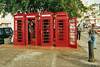 Like in Britain, the phone boxes (booths) in Grenada are red.