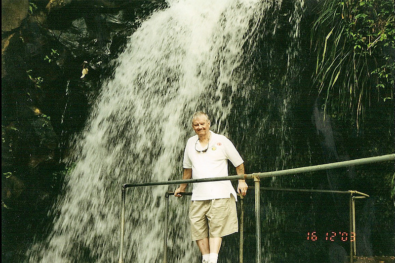 Dad at Annandale Falls, Grenada.