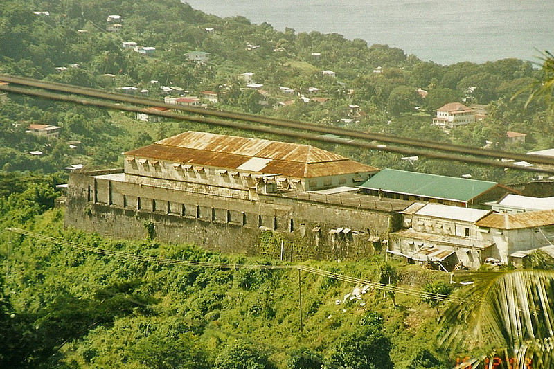 Grenada prison is just downhill from Ft George.