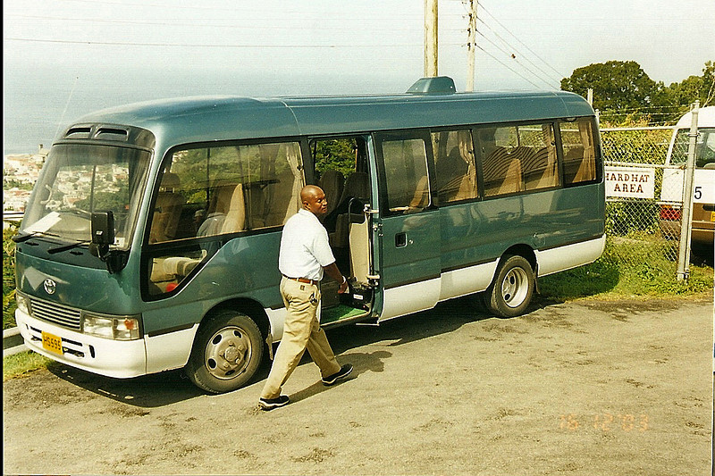 The bus we toured around Grenada in.