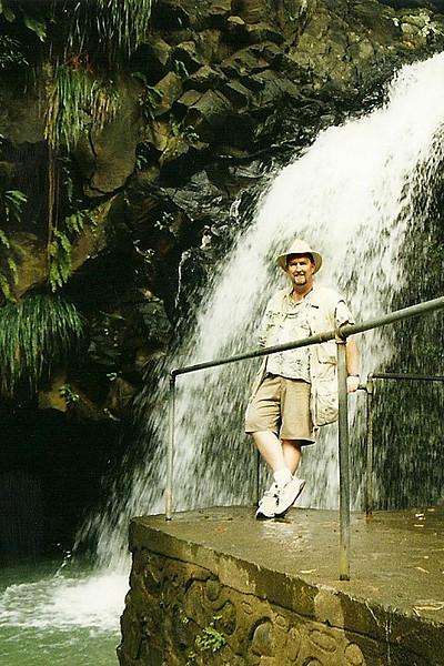 Me at Annandale Falls, Grenada.