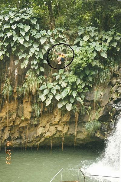 Annandale cliff diver (circle).  Grenada.