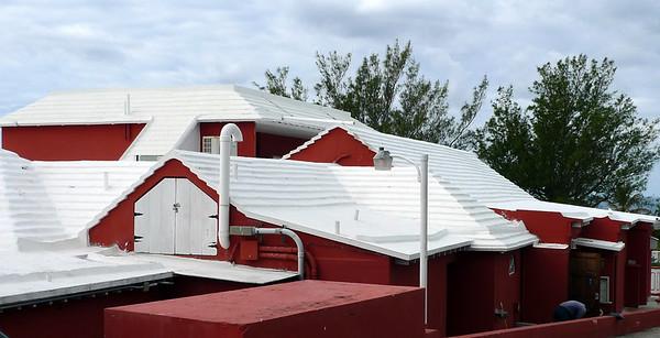 Limestone Catchment Roof. Bermuda