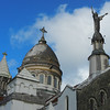 Roof of Sacré-Cœur de Balata Church, a replica of the parisian Montmartre Church lodged on a cliff surrounded by tropical forest. Martinique