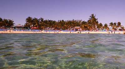 The beach at Coco Cay.