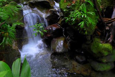 small stream below the emerald pool