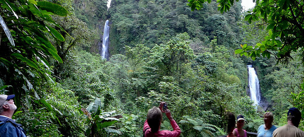 Trafalgar Falls, located near the national park, is one of the most spectacular sites on the island. The falls has two twin waterfalls known as the mother and father. The falls form a natural pool where the natives and tourist come to enjoy a nice cool bath.