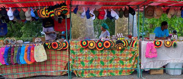 Craft vendors on Morne Bruce