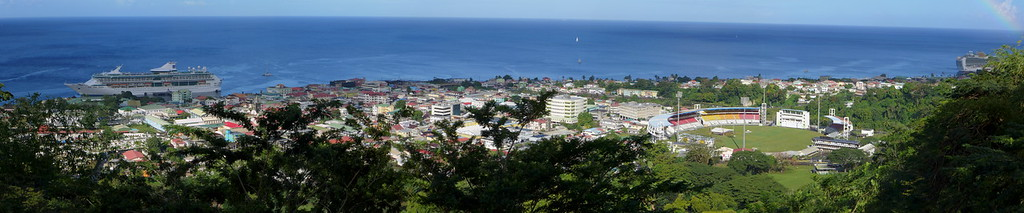 Panoramic view of Dominica