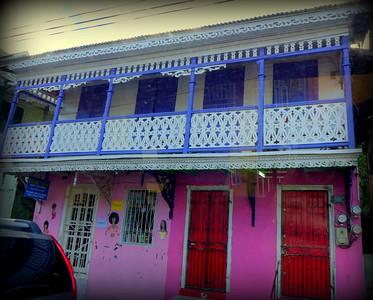 colorful shop in Roseau