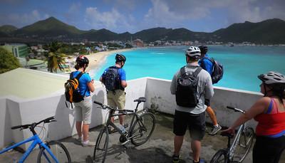 Overlooking Great Bay towards Phillipsburg, Capital of St. Maarten