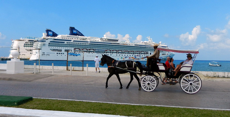 Old and new transport in Cozumel