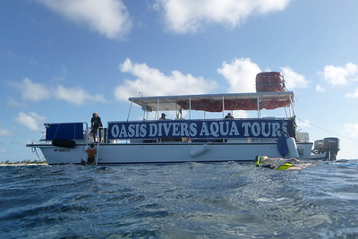 our dive boat at Grand Turk