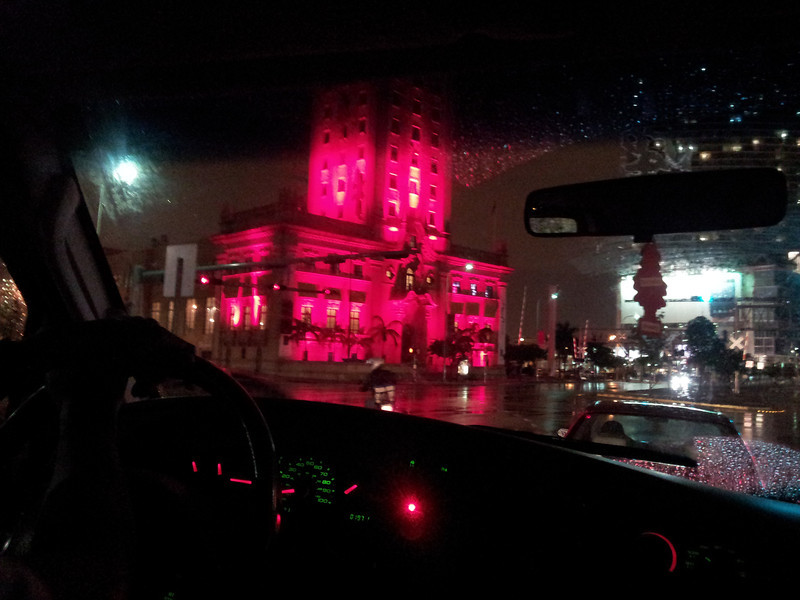 Rainy night in Miami