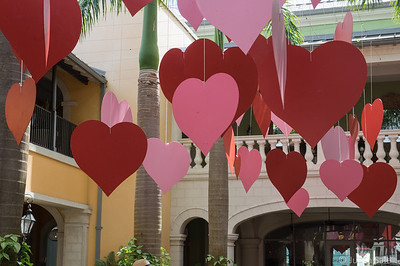 We celebrated Valentines during the cruise - lots of hearts.