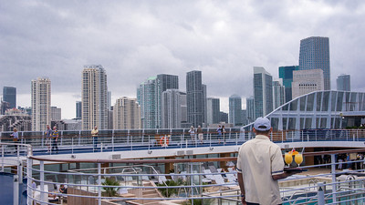"Miami - Port - Leaving for the Caribbean Water serving ""special"" bon voyage drinks at $9.50 a pop."