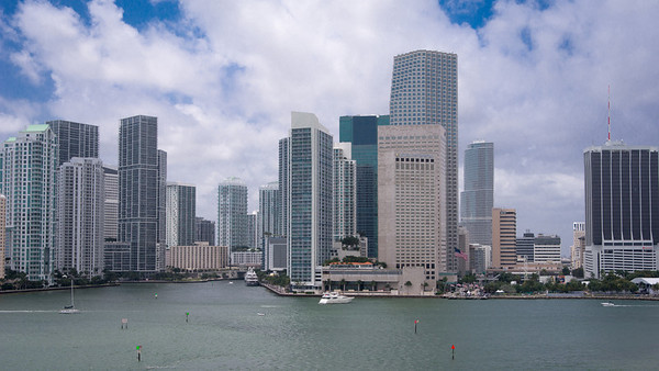 Miami - Port - Leaving for the Caribbean City of Miami