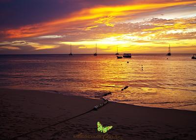 Sunset at Store Bay, Tobago, WI