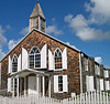 Island church with traditional shaker shingle architecture - St. Maarten - N.A.