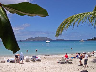 Beautiful scene on Tortola, BVI at Cane Garden Bay